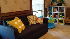 Couch and Baby Corner